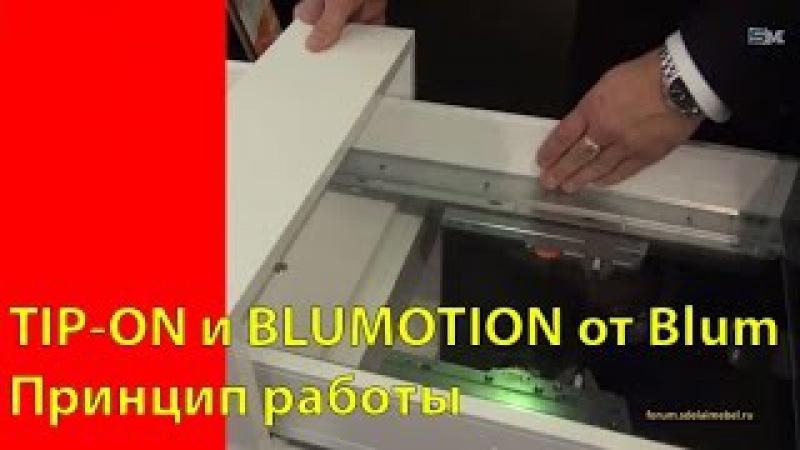 TIP-ON и BLUMOTION от Blum. Принцип работы.