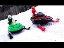 RC ADVENTURES - Dual Radio Control Snowmobiles - Arctic Cat Ski-Doo MXZ - Brushless Lipo Power