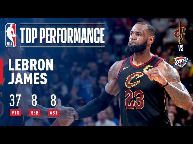 LeBron James Leads Cavs to 4th Straight Win With 37 8 8 February 13 2018 NBANews NBA Cavaliers LeBronJames