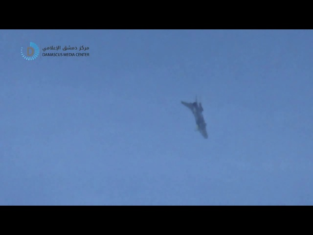 The moment of the decline of the warplane and targeting cities and towns in the eastern Ghouta 10 1 2018