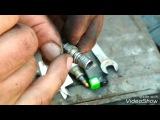 Ремонт сорванной резьбы в крышке карбюратора клапана холостого хода ВАЗ 2108