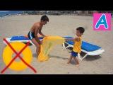 Вредные детки Порвали круг для плавания Bad kids broke a swim circle