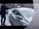 Автомобильная щетка - скребок