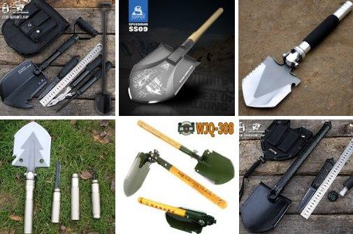 Складные лопаты для удобного хранения в багажнике
