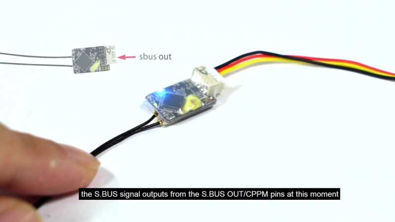 Приёмник микро FrSky R-XSR Ultra Micro Receiver 2.4GHz 16CH ACCST S.Bus CPPM