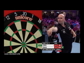 Adrian Lewis vs Rob Cross (PDC World Matchplay 2017 / Round 2)