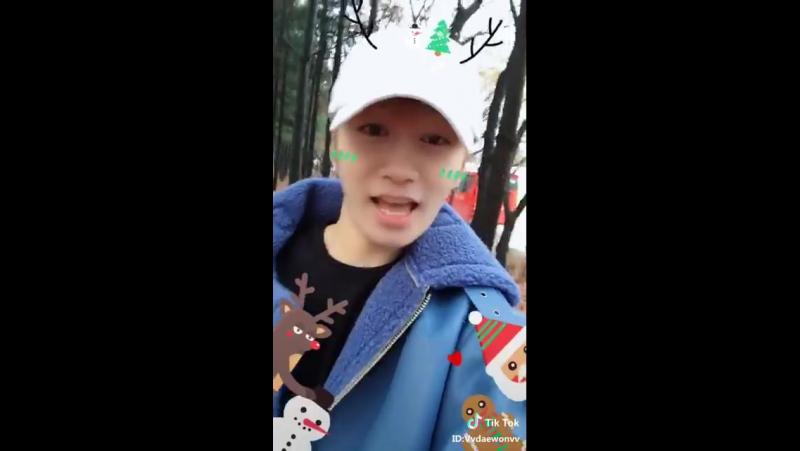 [TIK TOK] Daewon: THEUNI MerryChristmas Got embarrassed whiledancing...2017.12.25
