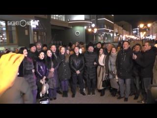 «И туган тел...»: песенный флешмоб татарских артистов на Аллее звезд на Баумана