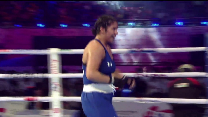 AIBA Women's Youth 2017 SemiF: (69kg) POPP Alina (GER) vs ORTIZ Citlalli (USA) 25112017