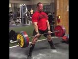 Дэн Грин, тяга 285 кг на 9 раз