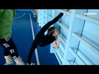 Шокирующее видео тренировки будущей гимнастки Супер упражнения мотивация шпагат растяжка тренировки тренинг накачать спорт
