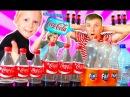 🍼 БУТЫЛКА ВОДЫ и Coca Cola ЧЕЛЛЕНДЖ ботл флип челлендж с водой и кока колой Кто выиграет