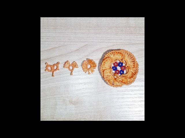 Основы Фриволите Пико соединительное декоративное крючок Процесс плетения Frivolite