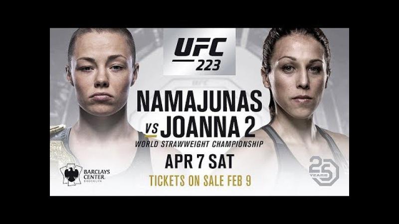 Rose Namajunas vs Joanna Jedrzejczyk 2 UFC 223 PROMO HD
