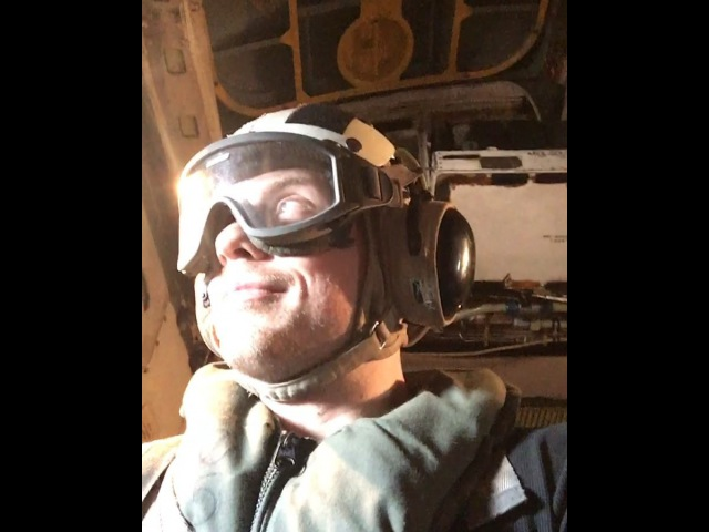 "This is my favorite video from the USOTour2017 it's a COD TAC line launch. Basically our plane gets sling shot off the USS Theodore Roosevelt. I've been on all kinds of rollercoasters and nothing beats this. I literally tell @andybovine ""my balls are in"