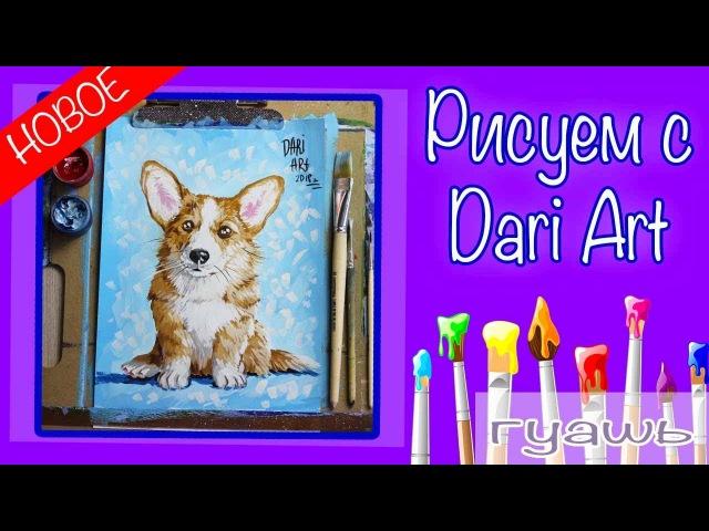 Как нарисовать собаку гуашью! Рисуем милого корги! Подробный видео урок рисова » Freewka.com - Смотреть онлайн в хорощем качестве