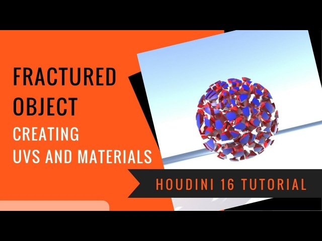 UVing and Adding Materials to a Fractured Object in Houdini