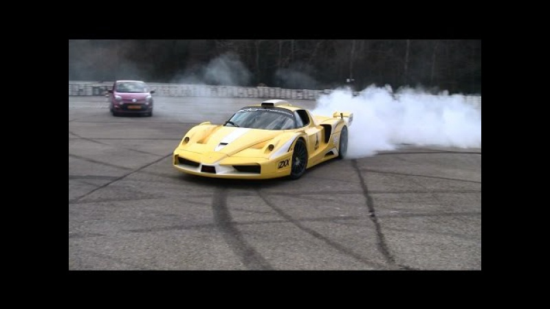 Ferrari Enzo ZXX Edo Competition EPIC DONUTS!