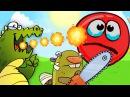 RED BALL 4 КРАСНЫЙ ШАРИК против ЗОМБИ и ЗВЕРЕЙ НА БОЛОТЕ игровой видео мультик детя