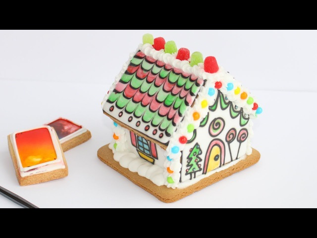 No Mess Gingerbread Party - Paint A Cookie Gingerbread House Decorating - Instrumental Relaxing