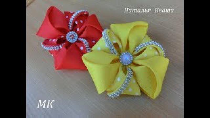 Бантики из репсовых лент МК. Ribbon bows DIY » Freewka.com - Смотреть онлайн в хорощем качестве