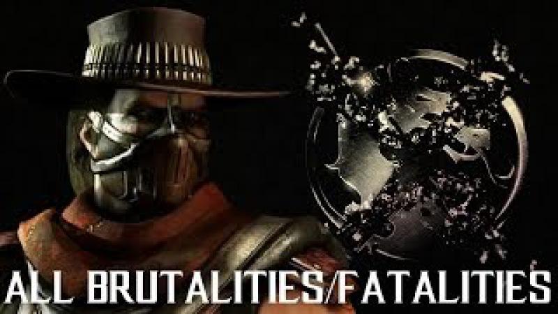 MKX Erron Black - All Brutalities and Fatalities - Mortal Kombat X Erron Black Gameplay