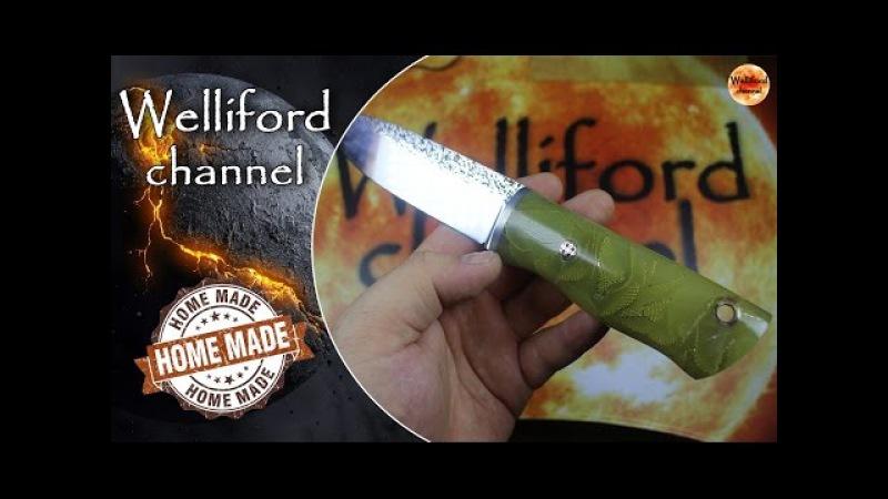 Светящаяся рукоять для ножа из эпоксидной смолы своими руками