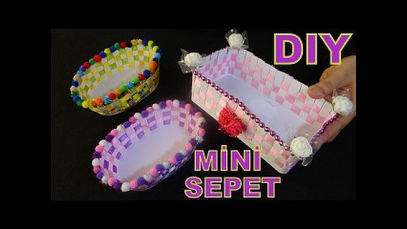 Peynir Kutusundan, Mini Sepet Yapımı - DIY Mini Basket - Geri Dönüşüm