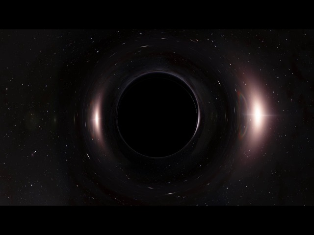 Space Engine: Black hole near star cluster