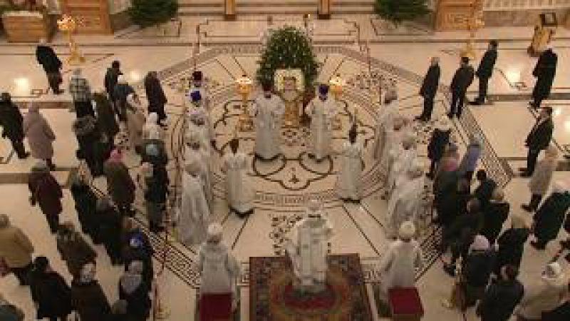 Второй день святок. Соборная молитва в храме святых Петра и Февронии