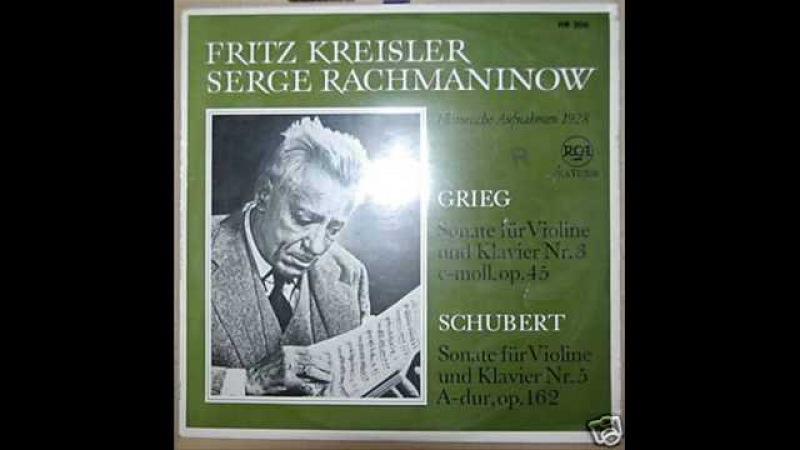 Kreisler and Rachmaninoff play Schubert's Grand Duo (2/3)