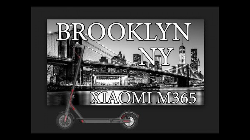 Riding to South Brooklyn by XIAOMI MIJIA M365 SCOOTER