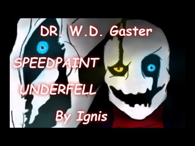 W.D. Gaster - Undertale - Speedpaint | Гастер Арт