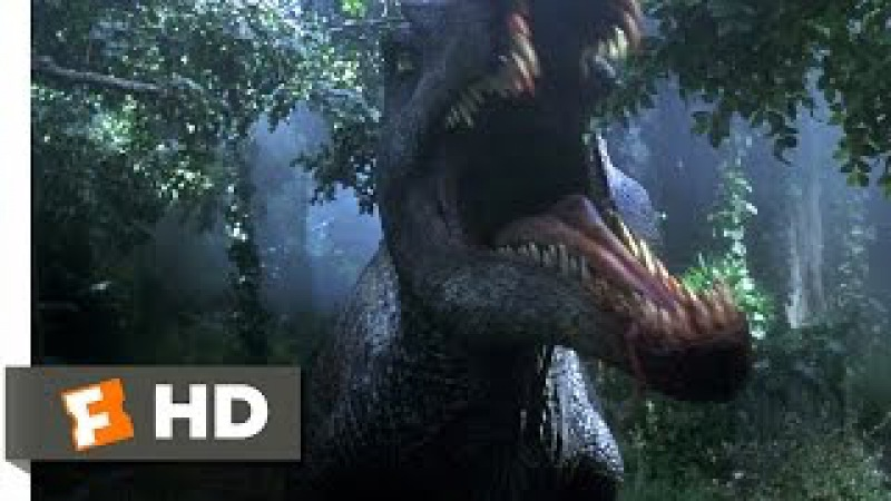 Jurassic Park 3 (2/10) Movie CLIP - Spinosaurus Attack! (2001) HD