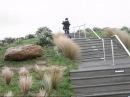DCTV Caitlin v Blunt umbrella on a windy day up Mt Vic