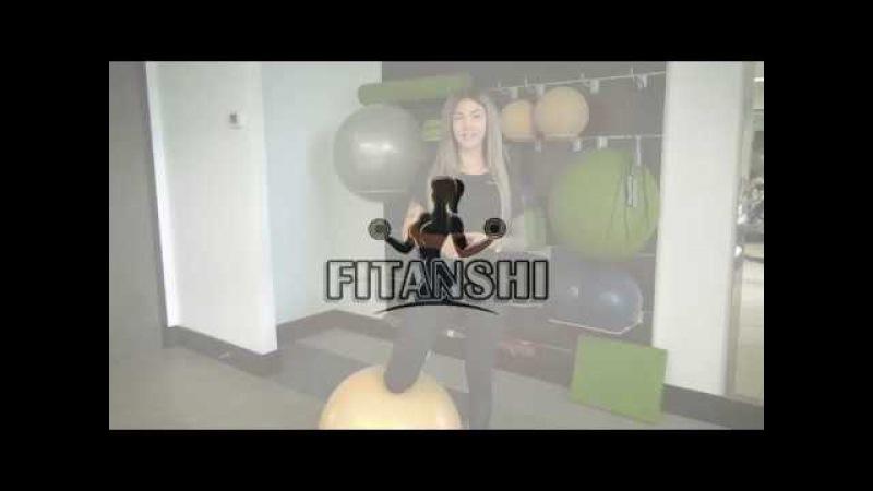 Как накачать попу на фитболе Эффективное упражнение от Аси