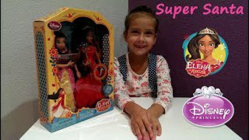 Супер Санта и принцесса Елена из Авалора Распаковка Поющая кукла Дисней Elena of Avalo