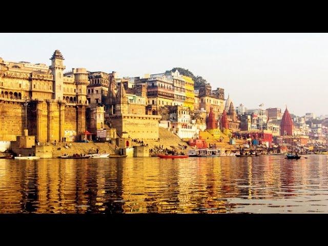 Varanasi Ghat India Morning Hindu Rituals Ganga River Bathing *HD*