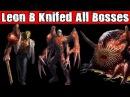 Resident Evil 2 Leon B Knifed All Bosses