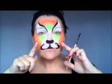 neon tiger facepainting tutorial