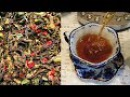 Сердечный чай из ферментированных листьев клубники или земляники. Russian tea.