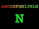 Latin alphabet in color upper case