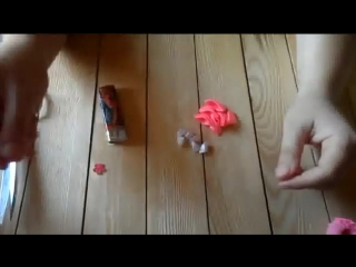 hand made Как сделать нежную резиночку для волос Канзаши Kanzashi