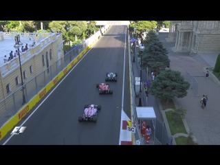 Hamilton and Vettel Collide in Baku ¦ F1 Most Dramatic Moments 2017