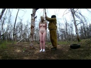 Russian girl hanging