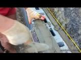 Кладка блока с не сквозным швом по растворной планке