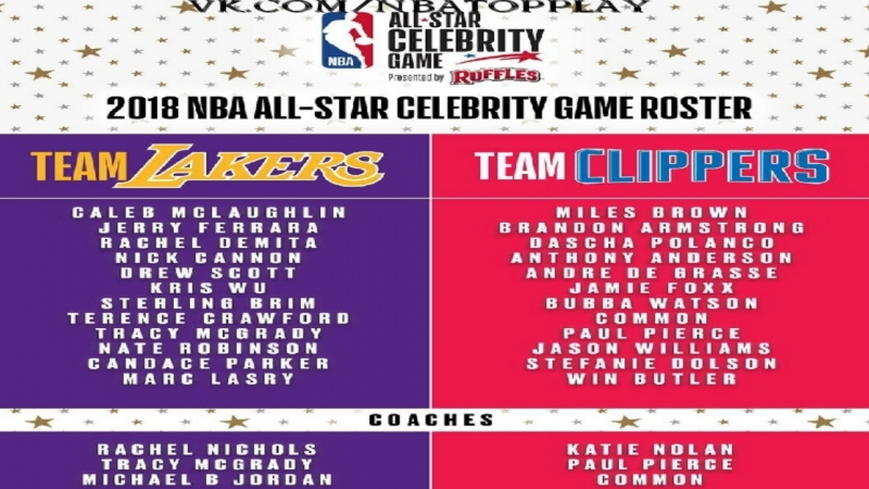 ★★★ 🏀 NBA All-Star Weekend 2018 Los Angeles / All-Star Celebrity Game 🏀 ★★★