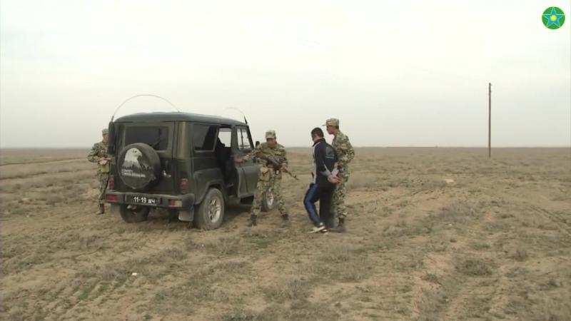 Задержание нарушителя Государственной границы_ Казахстанские пограничники