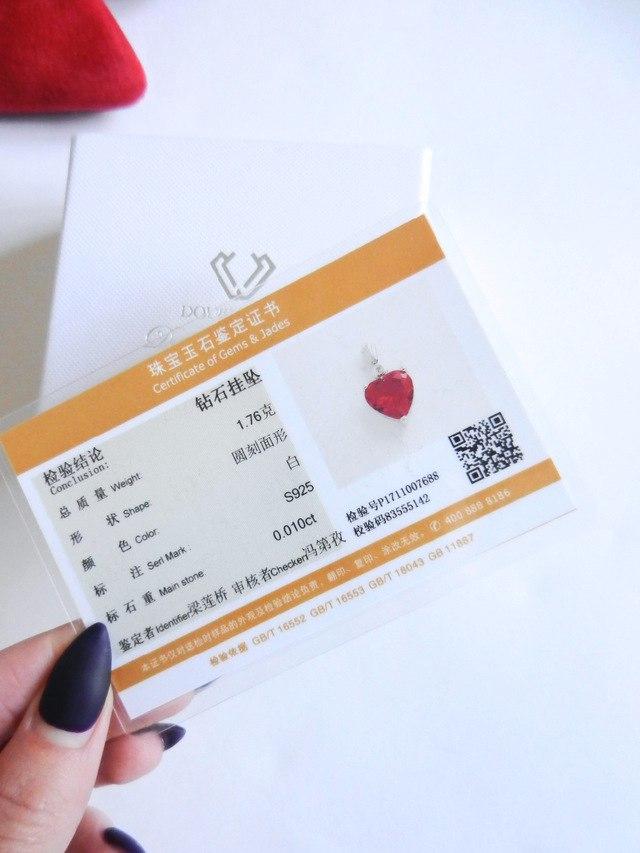 Подвеска в виде сердца с бриллиантиком от DOUBLERING_Official