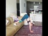 Тренировка на диване не выходя из дома